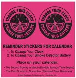 Calendar Reminder Stickers - Change Your Clock/Battery (Stock)